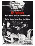 Dr. Strangelove, German Movie Poster, 1964 Giclée-Druck