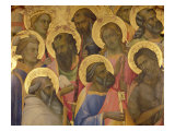 The Coronation of the Virgin, Detail of the Faces of the Saints, 1413 Giclée-tryk af Lorenzo Monaco