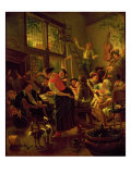 Family Meal Giclee Print by Jan Havicksz Steen