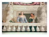 Villa Barbaro: Lady and Nurse on the Balcony Giclee Print by Paolo Veronese