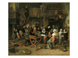 The Christening Feast, 1668 Giclee Print by Jan Havicksz Steen