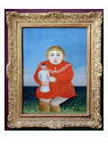 The Girl with a Doll, c.1892 or c.1904-05 Giclee Print by Henri Rousseau