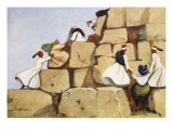 The Climbers, from 'The Light Side of Egypt', 1908 Giclee Print by Lance Thackeray