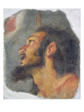 The Head of St. John the Baptist, Fragment from a Fresco Giclee Print by Bernardo Strozzi