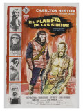 Planet of the Apes, Spanish Movie Poster, 1968 Premium Giclee Print