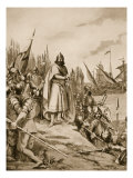 Erik the Saint Lands on the Coast of Finland, 1157 Giclee Print by Fernand Le Quesne