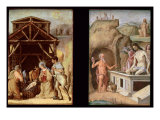The Adoration of the Shepherds, and The Dead Christ, c.1490 Giclee Print by Ercole de Roberti