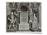 Familia Regia, or The Family of Henry VIII, 1742 Lámina giclée por George Vertue