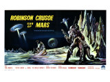 Robinson Crusoe on Mars, Belgian Movie Poster, 1964 Premium Giclee Print