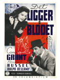 His Girl Friday, Swedish Movie Poster, 1940 Reproduction procédé giclée