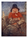 An Old Fisherman of Scheveningen, 1904 Giclee Print by Nico Jungman