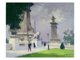 Pont Alexandre III, Paris Giclee Print by Jules Ernest Renoux
