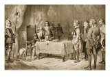 Swiss Envoys Appealing to Cromwell for Help for the Waldenses, 1654 Giclee Print by Arthur Kemp Tebby