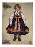 A Little Saetersdalen Peasant Girl, 1905 Giclee Print by Nico Jungman