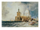 The Dogana and Santa Maria della Salute Giclee Print by William Clarkson Stanfield