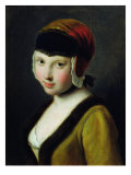 A Girl with a Black Mask Giclee Print by Pietro Antonio Rotari