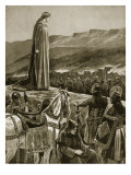 Queen Ethelfled Watching the Storming of Brecon, from 'Hutchinson's Story of British Nation' Giclee Print by Richard Caton Woodville