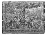 The Hunts of Maximilian, Leo, the Stag Hunt, Gobelins Factory Giclee Print by Bernard van Orley