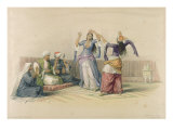 Dancing Girls at Cairo, from 'Egypt and Nubia', engraved by Louis Haghe Giclee Print by David Roberts