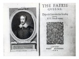 Portrait of Edmund Spenser and the Frontispiece to His Poem 'The Faerie Queene' Giclee Print by George Vertue