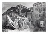Timber Yard, Finsbury, 1825 Giclee Print by George The Elder Scharf