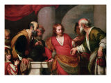 Christ in the Temple with Money Lenders Giclee Print by Bernardo Strozzi