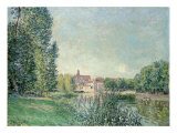 The Loing Canal and the Church at Moret, 1886 Giclee Print by Alfred Sisley