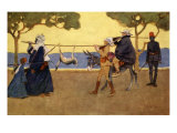Big Game Hunters, from 'The Light Side of Egypt', 1908 Giclee Print by Lance Thackeray