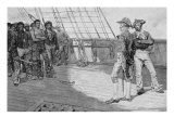 Impressment of American Seamen, illustration from 'Our Country's Cradle', pub. in Harper's Magazine Giclee Print by Howard Pyle