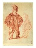 An Actor Standing Giclee Print by  Rembrandt van Rijn