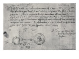 Letter Written in Seville to the Ducal Commissioner in Genoa, 30th December 1492 Giclée-Druck von Amerigo Vespucci