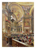 The Miracle of the Liquefaction of the Blood of Saint Januarius, 5th May 1863 Giclee Print by Giacinto Gigante