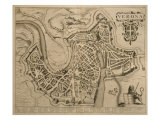 Map of Verona, from 'Les Villes De Venetie', 1704, Published by Pierre Mortier in Amsterdam Giclee Print by Pierre Mortier