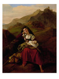 The Unhappy Mother, 1834 Giclee Print by Louis Leopold Robert