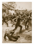Wounded Soldiers Charge the Germans-Gallant Deed of Yorkshire Light Infantry, 1914-19 Giclee Print by Ernest Prater
