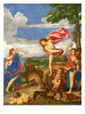 Bacchus and Ariadne, 1520-23 Gicle-tryk af Titian (Tiziano Vecelli)