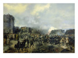 The French-Russian Battle at Malakhov Kurgan in 1855, 1856 Giclee Print by Grigory Shukayev