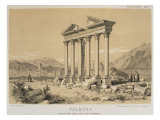 Ruined Temple, Palmyra, Syria, Illustration from 'Voyage En Asie Mineure' by Leon De Laborde Giclee Print by Leon de Laborde
