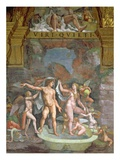 Mars and Venus Bathing, aided by Cupid and Putti from the Sala di Amore e Psiche, 1528 Giclee Print by Giulio Romano