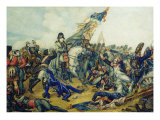 The Battle of Waterloo in 1815, 1831 Giclee Print by Charles Steiben