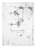 Machinery Designs Giclee Print by Leonardo da Vinci 