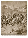 The &#39;stirrup-Charge&#39; of the Scots Greys and Highlanders at St. Quentin, 1914-19 Giclee Print by Richard Caton Woodville