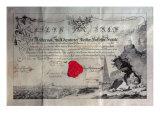 Masonic certificate, 1785 Giclee Print
