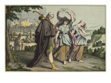 Lot and His Daughters Fleeing, Illustration from 'L'Ancien Testament' Giclee Print