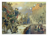 Suvorov Crossing the Devil's Bridge in 1799, 1880 Giclee Print by Aleksei Danilovich Kivshenko