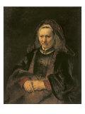 Portrait of an Elderly Woman, c. 1650 Giclee Print by  Rembrandt van Rijn