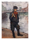 An Amsterdam Street: Boy with Clappers, 1904 Giclee Print by Nico Jungman