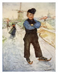 A Peasant Boy of Veere on Skates, 1904 Giclee Print by Nico Jungman