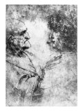 Study of a 'Nutcracker' Man and Beautiful Youth, c.1500 Giclee Print by  Leonardo da Vinci