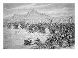 The Collapse of the Bridge During the Battle of Stirling Bridge, in 1297, engraved by Roberts Giclee Print by Matthew White Ridley